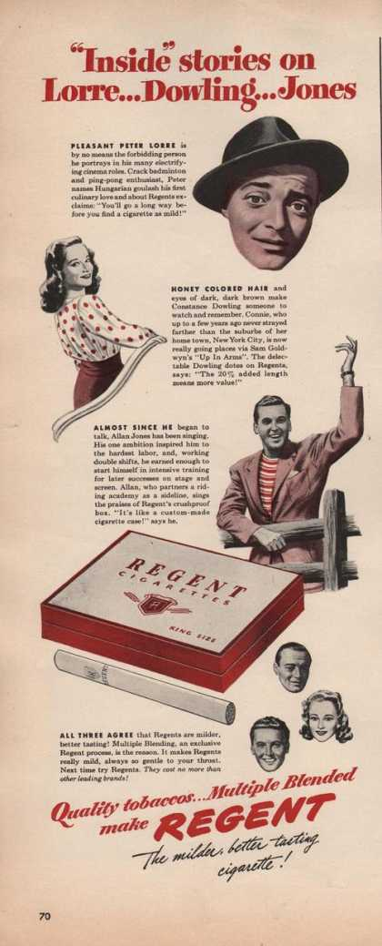 Multiple Blended Regent Cigarettes (1942)