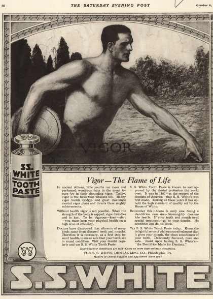 S. S. White Dental Manufacturing Co.'s tooth paste – Vigor – The Flame of Life (1919)
