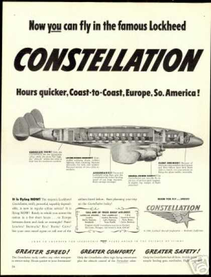 Lockheed Constellation Airplane Art (1946)