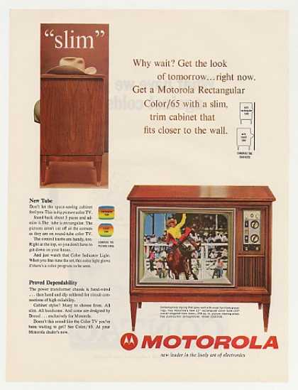 Motorola Slim Rectangular Color TV D23CK38 (1964)