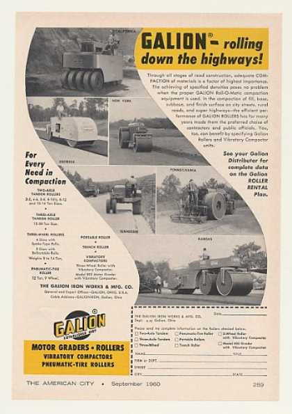 Galion Roll-O-Matic Road Rollers (1960)