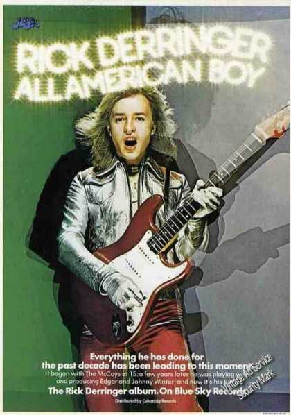 Rick Derringer All American Boy Album (1974)