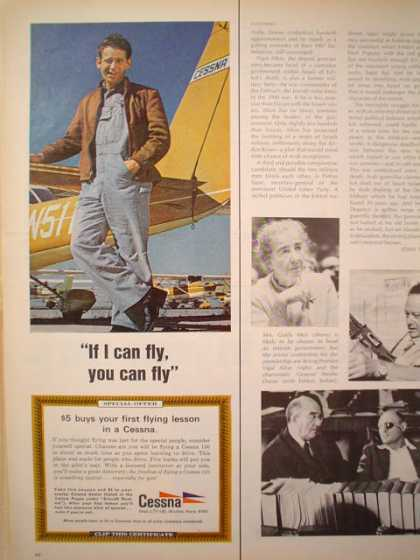 Cessna Plane Airplane I can fly, you can fly 1/2 pg (1969)