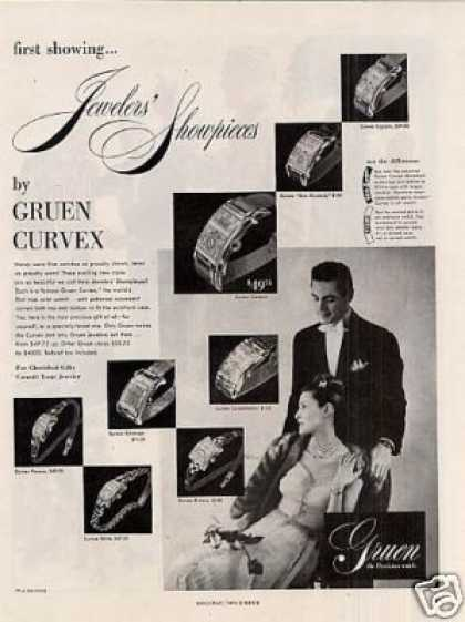 Gruen Curvex Watches (1947)
