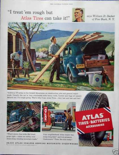 Atlas Tire William D Decker Pine Bush New York (1952)