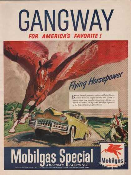 Mobil Gas Gangway Flying Horsepower Print (1949)