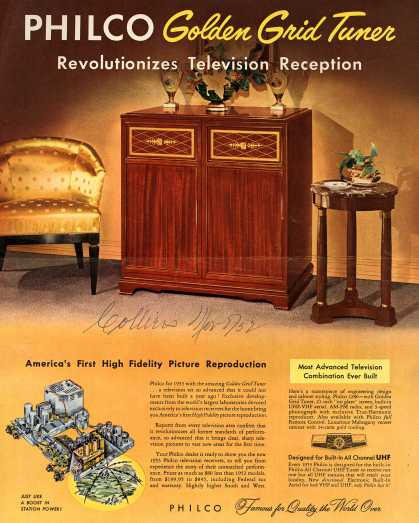 Philco's Television – PHILCO Golden Grid Tuner Revolutionizes Television Reception (1952)
