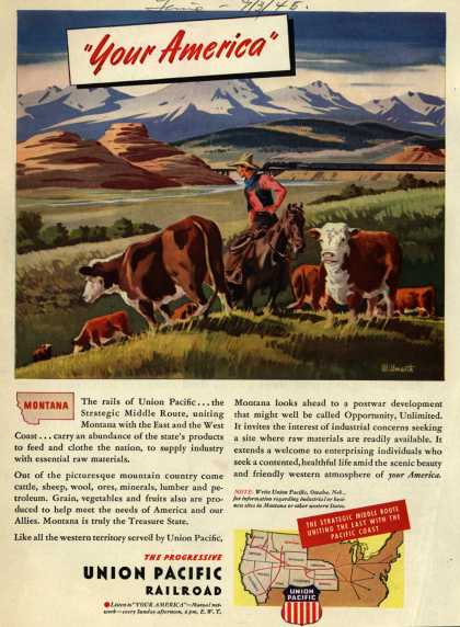 "Union Pacific Railroad's Middle Route – ""Your America"" Montana (1945)"