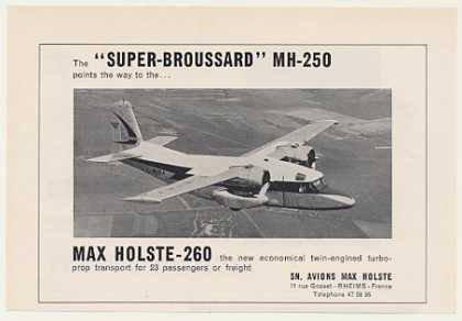 Max Holste 260 Turbo-Prop Aircraft Photo (1959)