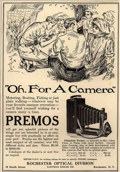 "Kodak's Filmplate Premo – ""Oh, For A Camera"" (1909)"