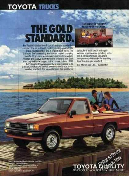 Toyota Trucks the Gold Standard Largest Payload (1988)