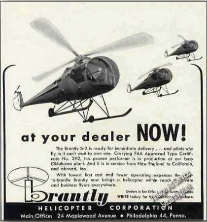 "Brantley B-2 Helicopters ""At Your Dealer Now!"" (1960)"