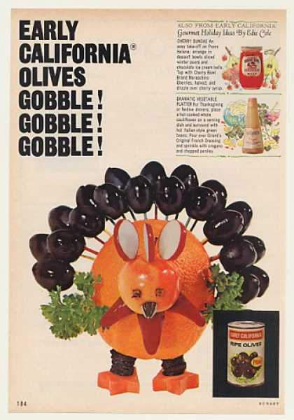 Early California Olives Gobble Gobble Turkey (1969)