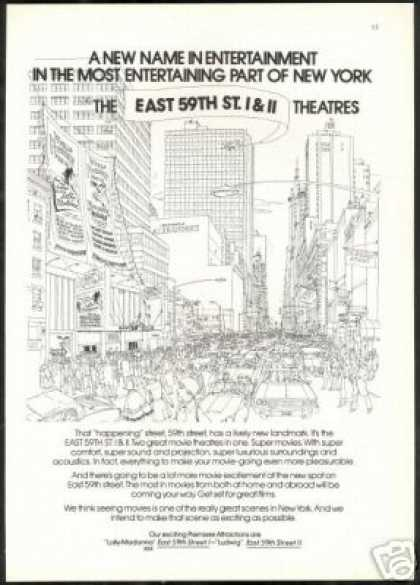 New York Movie Theatre East 59th St 1 & 11 (1973)