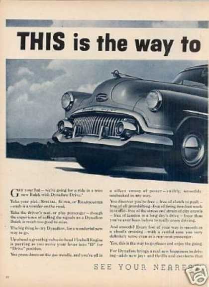 "Buick Car 2 Page Ad ""This Is the Way... (1952)"