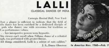 Gina Lalli Photo Classical Dances of India (1960)
