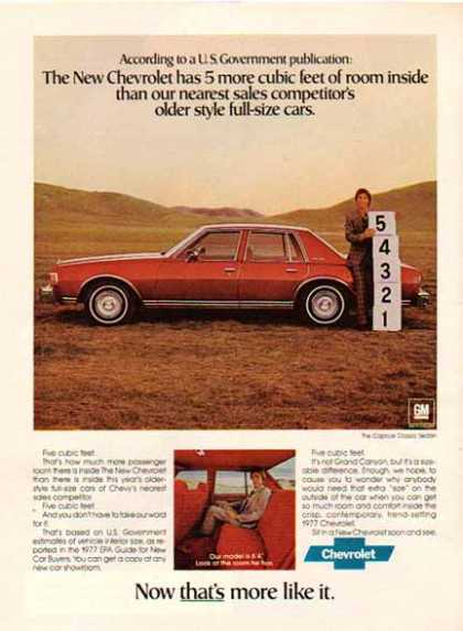 Chevrolet Car -Caprice Classic sedan / Red – GM (1977)