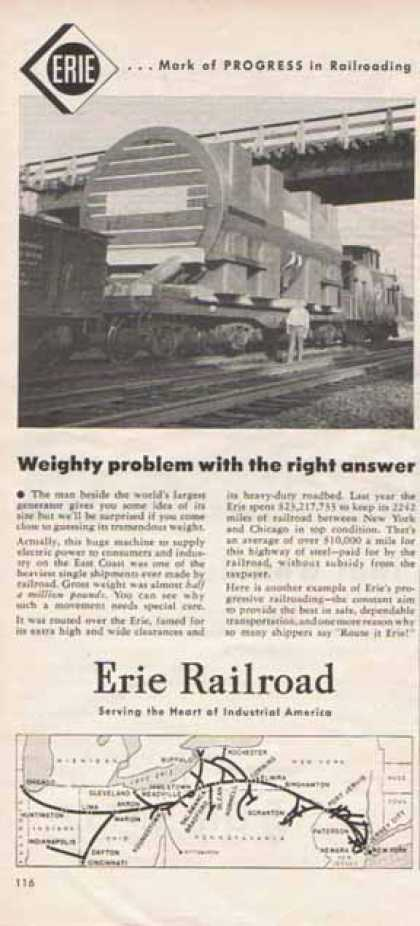 Erie Railroad – Progress in Railroading (1952)