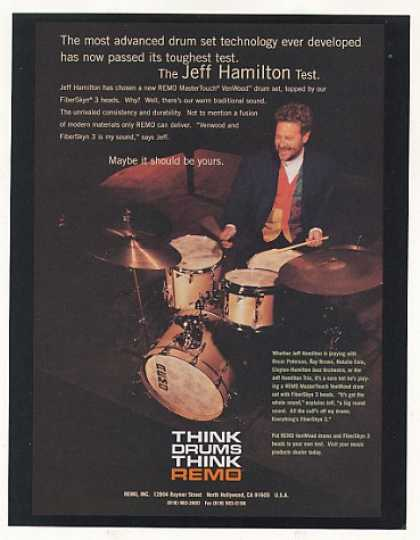 Jeff Hamilton Remo Drums Photo (1996)