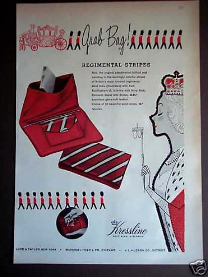 Kressline Red Fasion Grab Bag (1956)