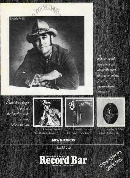 "Don Williams ""Especially for You"" Country Music (1981)"