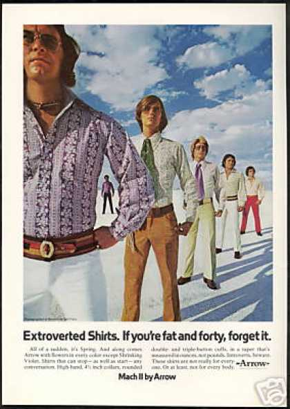 Arrow Mens Shirts Bonneville Salt Flats (1971)