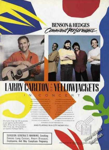 Larry Carlton & Yellowjackets Concert Schedule (1987)