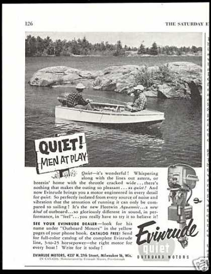 Evinrude Outboard Boat Motor Men at Play (1954)