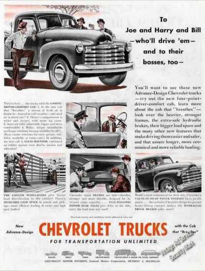 "Chevrolet Trucks ""New Advance-design"" (1947)"