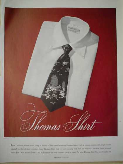 Thomas Shirt Co From California (1947)