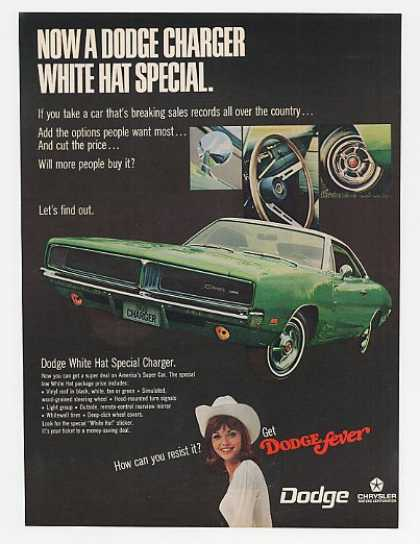Green Dodge Charger White Hat Special (1969)