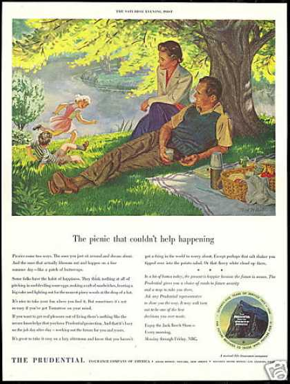 Prudential Insurance Picnic Nat White Art (1950)