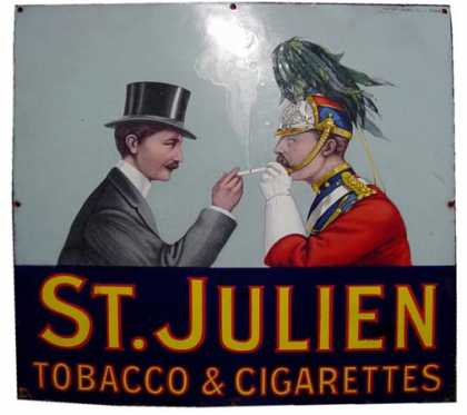 St Julien Tobbaco & Cigarettes Sign