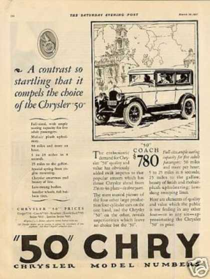 Chrysler Coupe & Coach Ad 2 Page (1927)