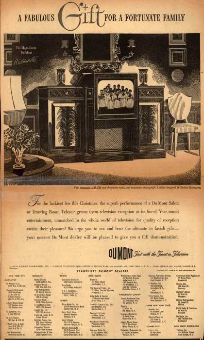 Allen B. DuMont Laboratorie's Radio Phonograph Television – A Fabulous Gift For A Fortunate Family (1947)
