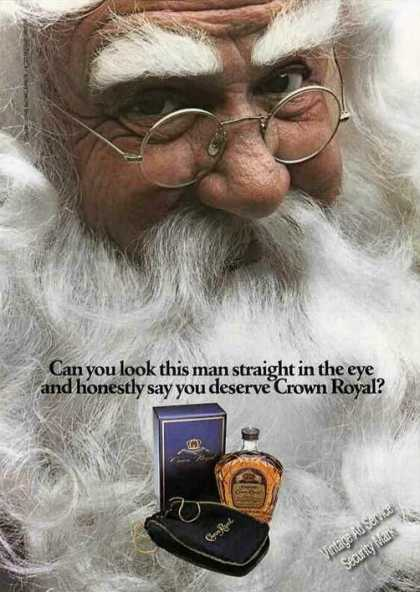"Crown Royal ""Can U Look Santa Claus In the Eye"" (1979)"