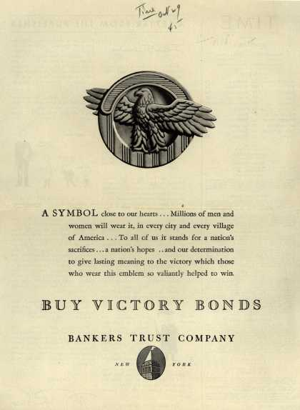 Bankers Trust Company's Victory Bonds – Buy Victory Bonds (1945)
