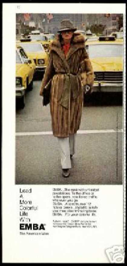 Emba Mink Fur Coat Photo Taxi Cabs (1977)