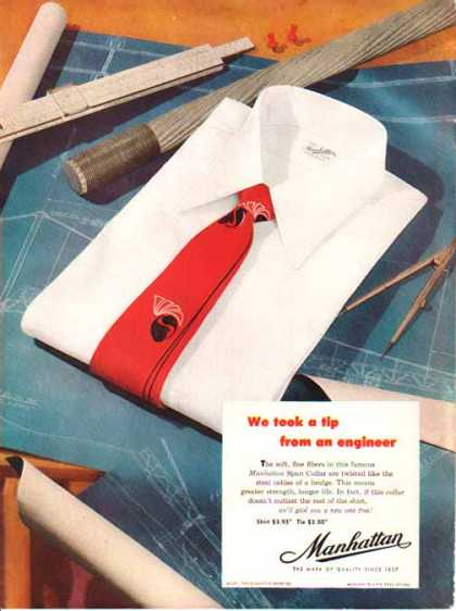Manhattan Shirt Company – Manhattan Span Collar – Sold (1951)