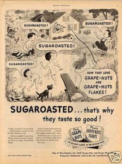 Post's Grape-nuts Cereal (1947)