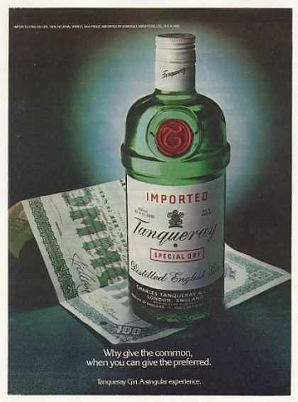 Tanqueray Gin Bottle Common Stock Photo (1980)