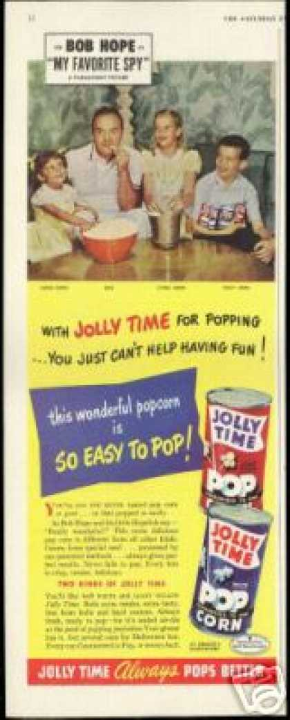 Bob Hope Family Photo Jolly Time Popcorn (1951)
