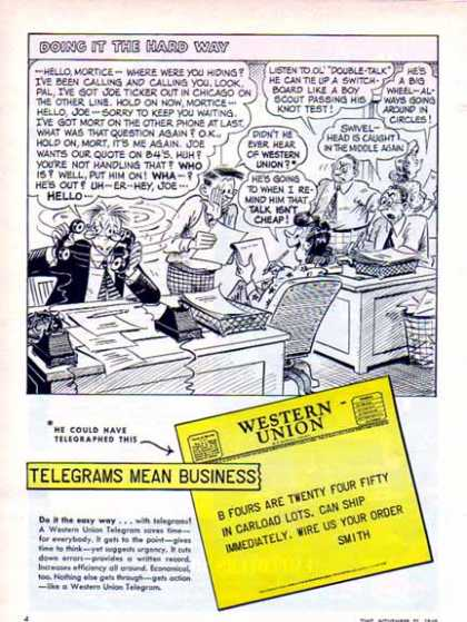 Western Union – Telegrams Comic (1949)