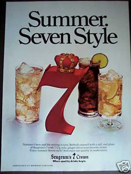 Seagram's 7 Whiskey W Cola, 7-up, Ginger Ale (1979)