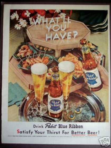 Pabst Blue Ribbon Better Beer & Food (1952)