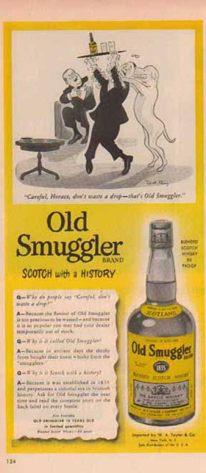 Old Smuggler Scotch – Loveable Dog, Careful Horace (1951)