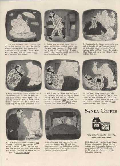 Sanka Coffee Cartoon (1942)