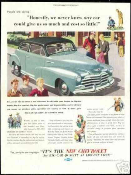 Chevrolet Vintage Print so Much so Little (1947)