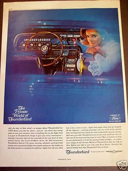 Ford Thunderbird Interior Photo Classic Car (1965)