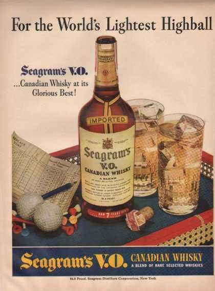 Seagrams Vo Canadian Whiskey Highball (1942)